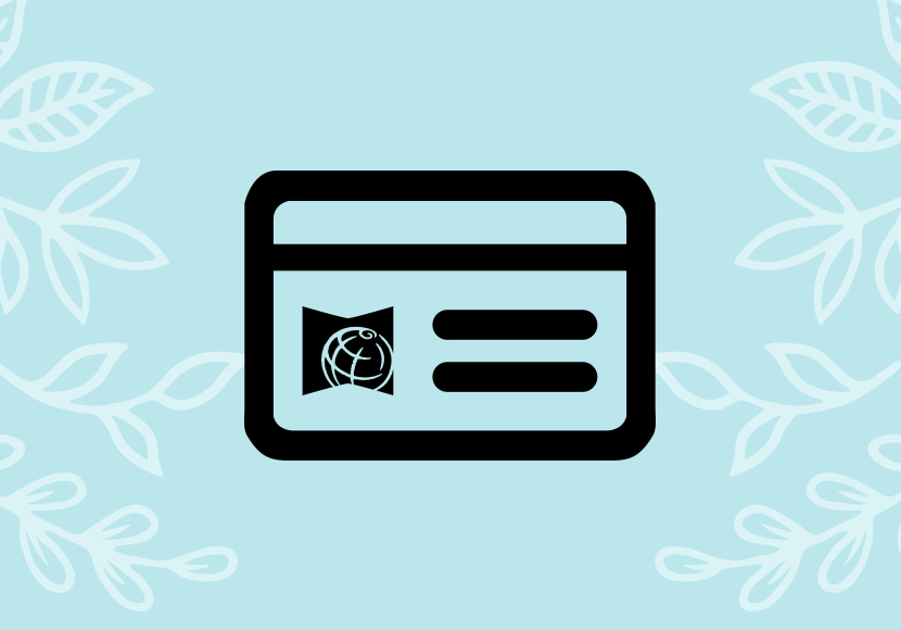 Library card graphic