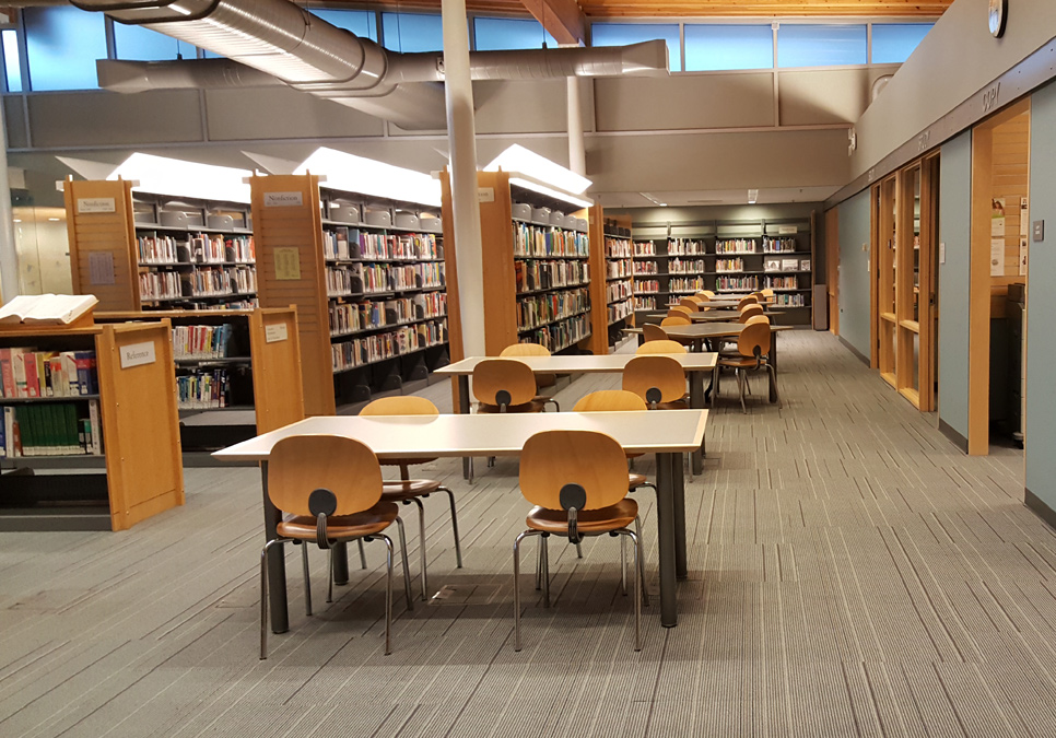 Library patron seating area at the Ballard Branch