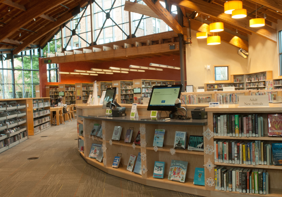Children's area at the Beacon Hill Branch