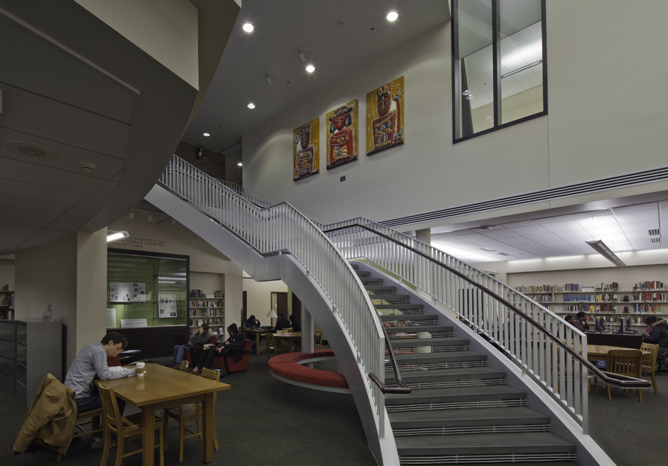 Staircase at the Douglass-Truth Branch