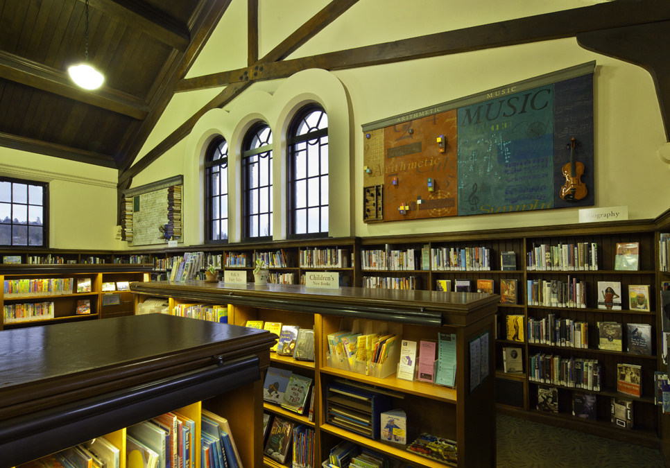 Displayed artwork at the Fremont Branch