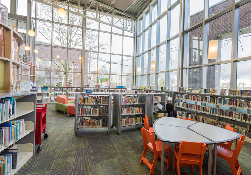 Children's area at the Greenwood Branch