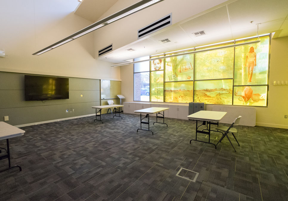 Meeting room area at the Greenwood Branch