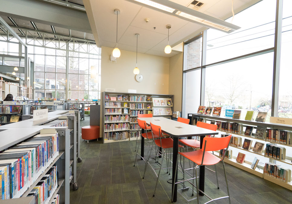 Interior view at the Greenwood Branch