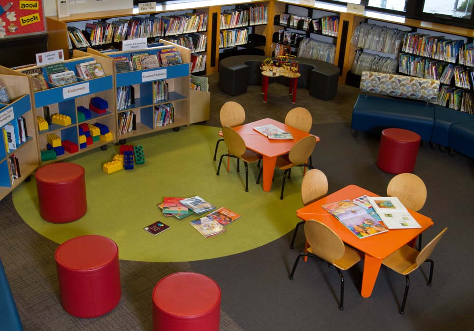 Children's area at the Northeast Branch