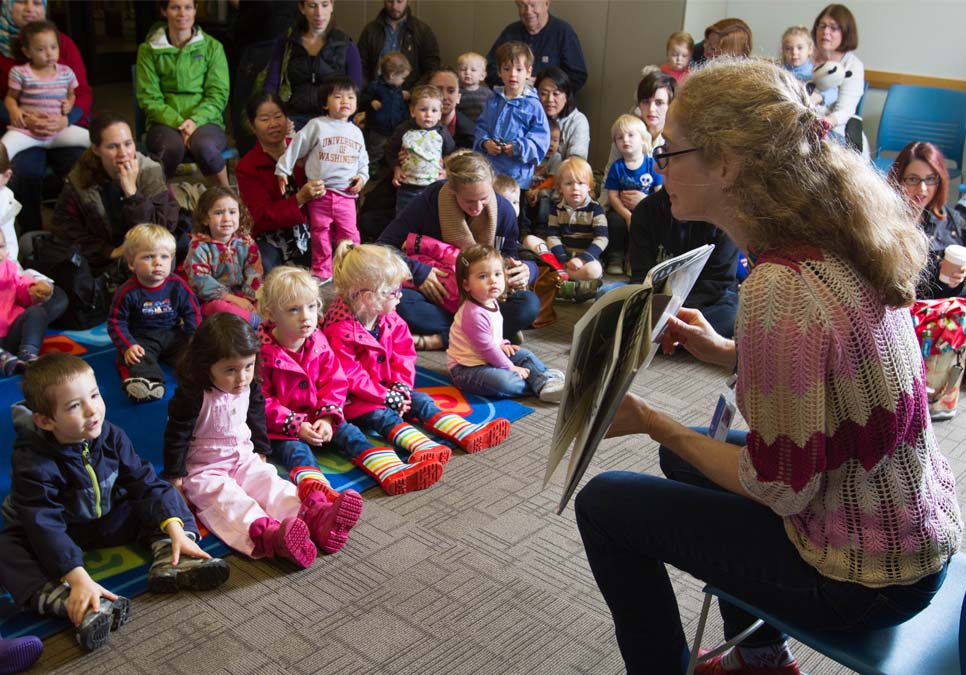 Children's story time at the Northeast Branch