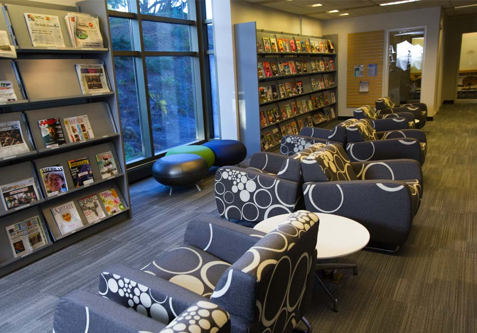 Library patron seating area at the Rainier Beach Branch