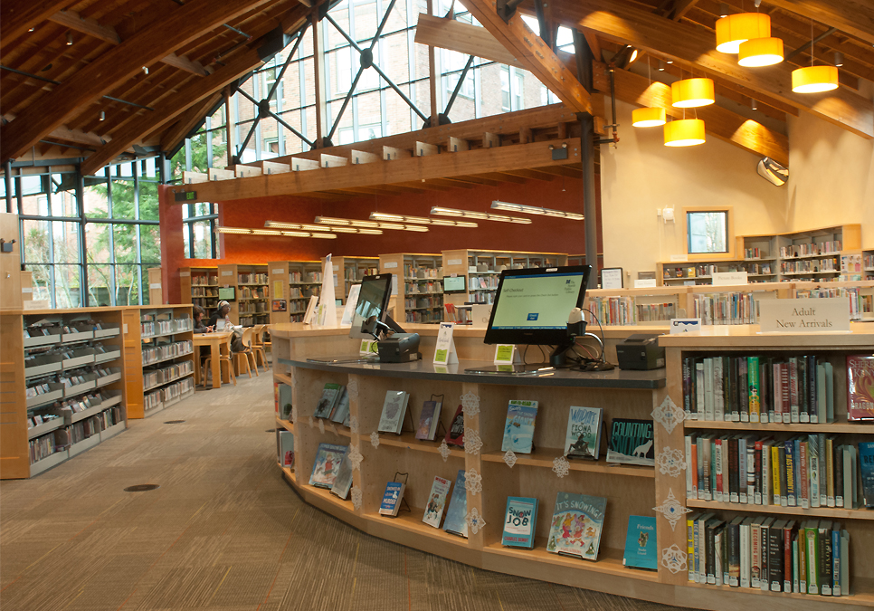 An interior view of Beacon Hill Branch