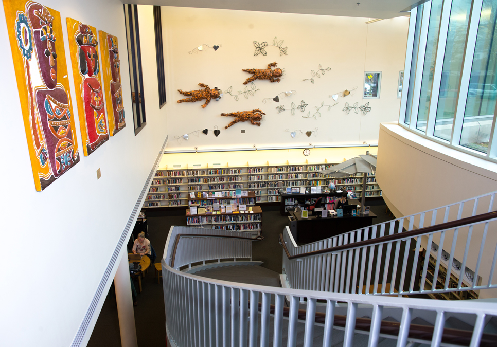 An interior view of Douglass-Truth Branch