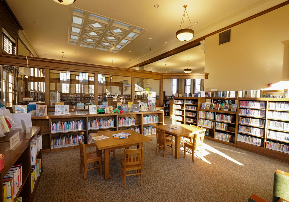 An interior view of the West Seattle Branch