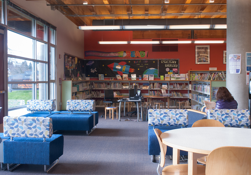 An interior view of the NewHolly Branch