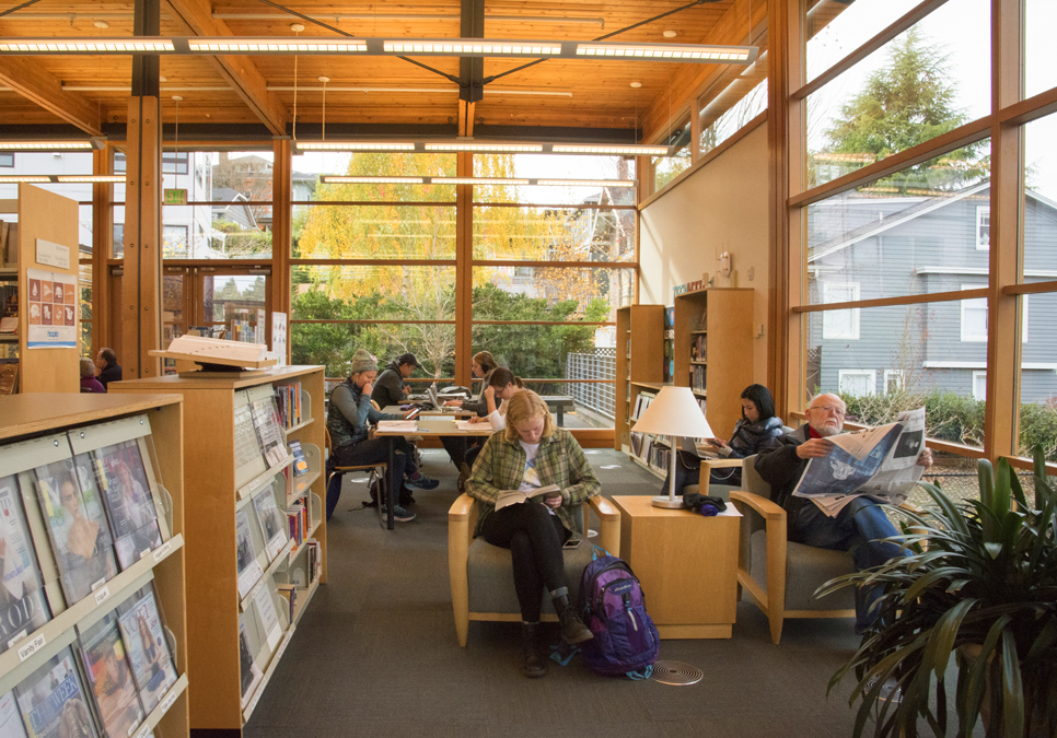 An interior view of the Montlake Branch