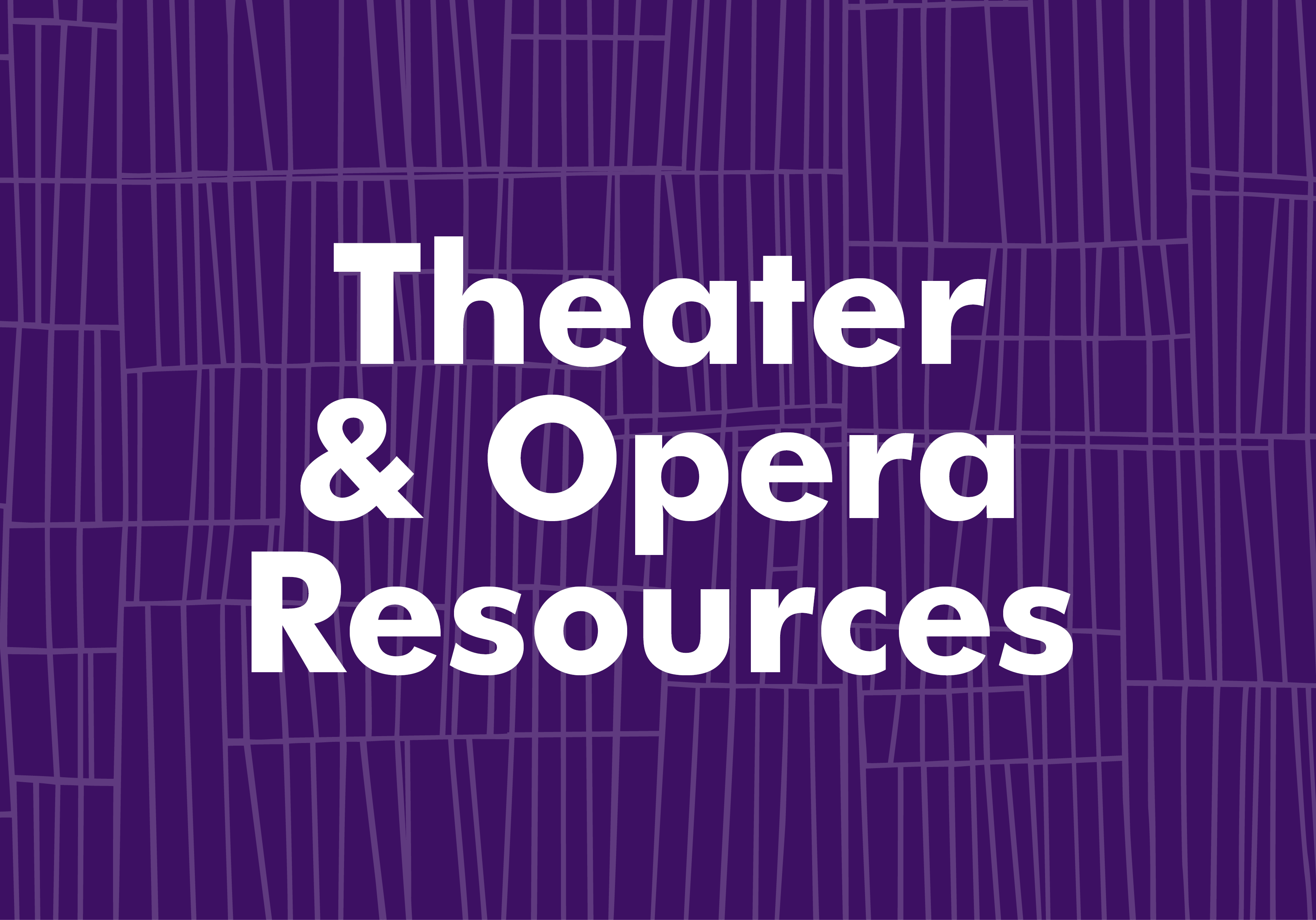 Theater resources graphic